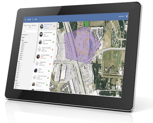 Tablet with GPS Tracking - Geofence